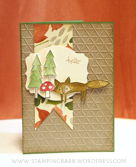 By Barbara Williams   INKspired Sketch Challenge #001   Life in the Forest by Stampin'Up!