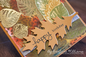 Barbara Williams Yellow Leafs embossing shot