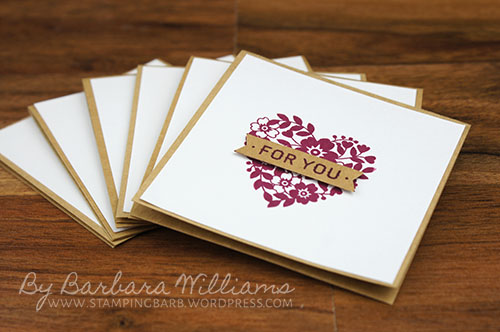 Bloomin' Love Photopolymer Bundle from Stampin' Up! created by Barbara Williams | 6 note card
