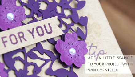 Bloomin' Love Photopolymer Bundle from Stampin' Up! created by Barbara Williams | Add a little sparkle with Wink of Stella