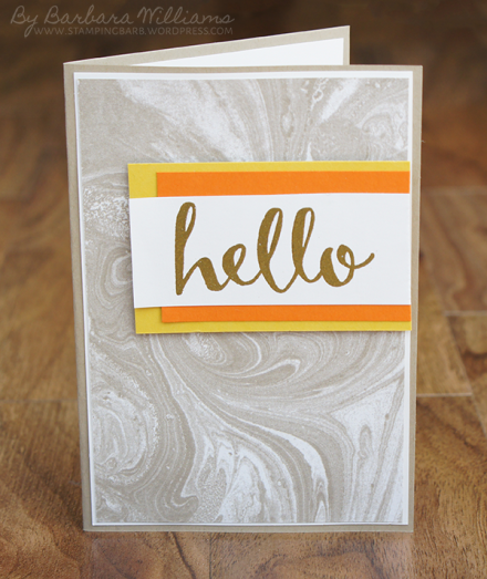 By Barbara Williams | Sale-a-bration 2015 Hello Stamp Set