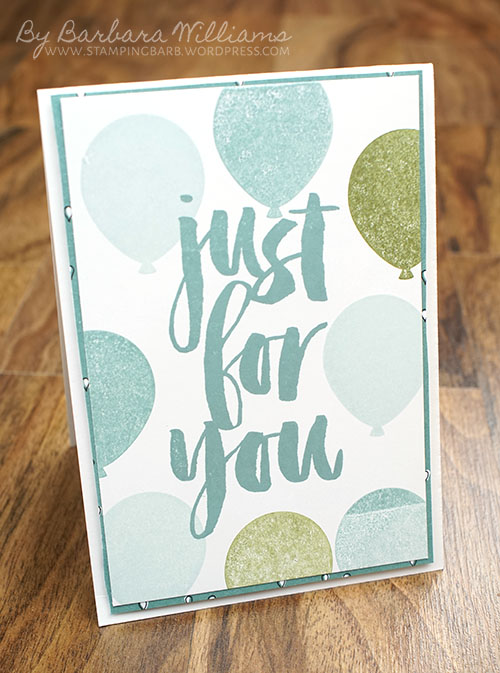 By Barbara Williams | Stampin' Up! Sale-a-Bration Ends March 31 | Party Pants