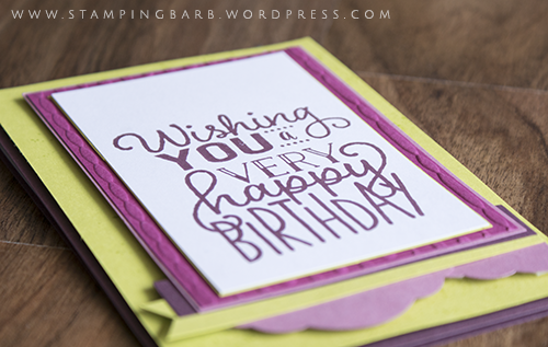 Stampin'Up! Demonstrator Barbara Williams | Birthday Card