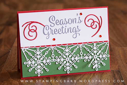 By Barbara Williams | Snowflake Sentiments Bundle by Stampin' Up!